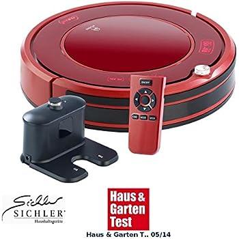 Sichler Saugroboter: Staubsauger-Roboter PCR-3550UV mit Ladestation, HEPA Filter & UV-Lampe (Robotersauger)