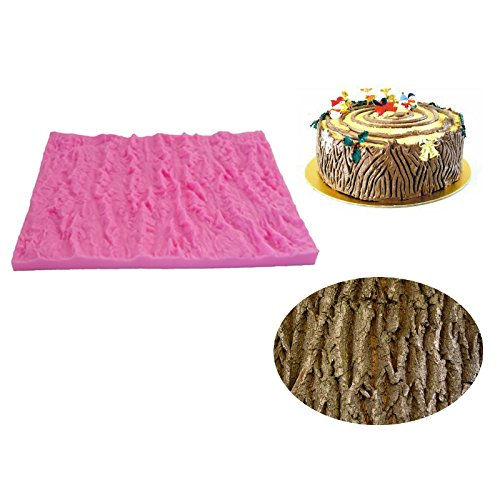 Beauty 's Castle DIY 3D Rinde Textur Matte Kuchen Silikon Form, handgefertigte Seife Form, Kuchen, Form Dekorieren, Fondant Backen Werkzeug (Seife Rinde)
