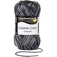 Schachenmayr - Algodón, hilo tejido a mano, algodón, gris, 11.5  x  5.2  x  6 cm