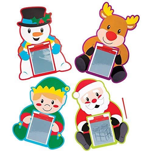 Baker Ross Weihnachts-Zauberschiefer (8 Stück) für Kinder, Weihnachtskunst, Basteln und Partytüten -