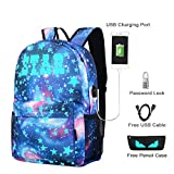 Cool Boys Girls Outdoor Backpack Music Boy Backpack Anime Luminous Children's School Bag