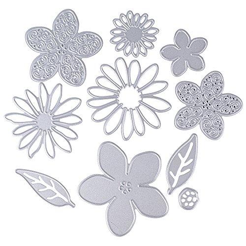 Scrapbooking Dies Cutting Matrices de Découpe Pochoirs Bricolage Album Mariage Décoration Papier Carte Craft DIY Scrapbooking Matériel (Fleurs)