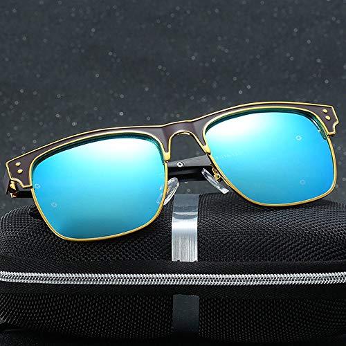 Easy Go Shopping Classic Driving Fishing Polarized Sonnenbrillen für Männer und Frauen, Bunte Linsen. Sonnenbrillen und Flacher Spiegel (Farbe : B)