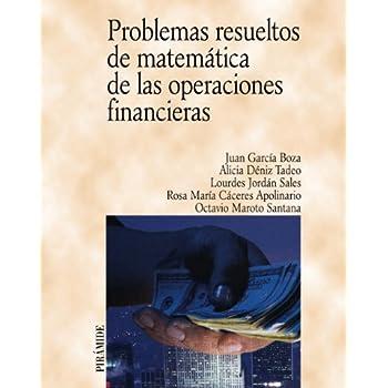 Problemas resueltos de matematica de las operaciones financieras / Solved Problems of Mathematic and Financial Operations