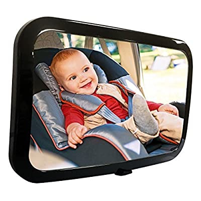 Fifth Gear Large Adjustable Wide View Rear Baby Child Seat Car Safety Mirror Headrest Mount Super View - low-cost UK light store.