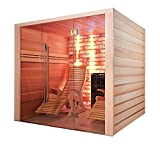 ITEMS FRANCE ALTOVAP - Sauna Traditionnel Alto VAP 210x215x191cm + 2 fauteuils a.