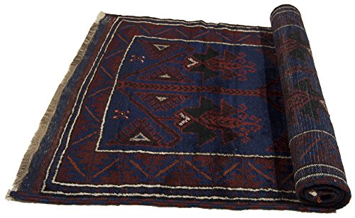 Galleria farah1970 - cm 152x84 autentico, originale tappeto rustico pure lana fatto a mano afgano