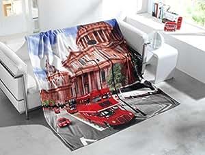 schlafwohl basic impression photo london couverture polaire couvre lit 150 x 200 cm. Black Bedroom Furniture Sets. Home Design Ideas