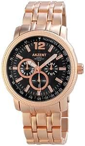 Akzent Herren-Armbanduhr XL Analog Quarz verschiedene Materialien ss8871000006