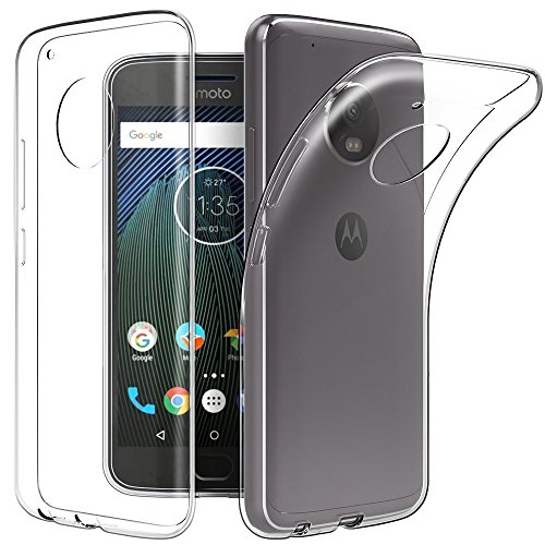 SDO™ Premium Soft Silicone Transparent Style Shockproof Jelly Back Case Cover For Moto G5 (Clear Transparent)  available at amazon for Rs.95