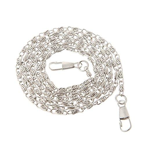 ESden Geldbörse mit Metallkette, Schulterriemen, Metall, Silber, One Size -