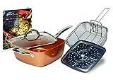 Set de 5 Pieces Copper Chef en Aluminium moulé et céramique cuivré - Vu à la Télé