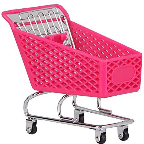 Black Temptation Mini Supermarkt Handwagen Mini Einkaufswagen Spielzeug,Desktopspeicher,Pink # 1