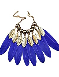 TBOP NECKLACE THE BEST OF PLANET Simple And Stylish Jewelry Feather Leaves Popular Tassel Sweater Chain Necklace...