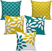 """AEROHAVEN™ Set of 5 Multi Colored Decorative Throw Hand Made Velvet Cushion Covers (16"""" x 16"""" OR 40"""