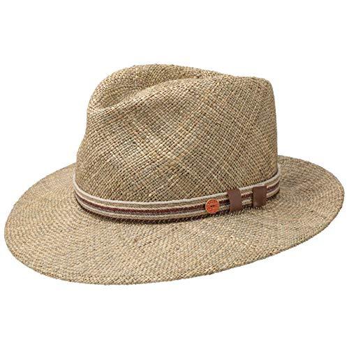 t Fedora Hut aus Stroh - natur 56 ()