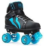 Rio Roller Kicks Style Quads Rollschuhe Disco Roller schwarz-blau black-blue, 39.5