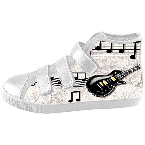 Nota Da Música Dalliy E Guitarra Caçoa Sapatas De Lona Schuhe Calçado Sneakers C