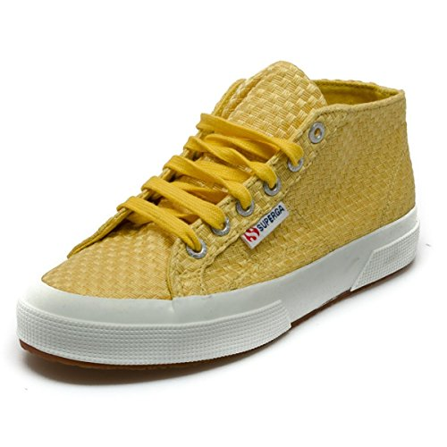 Superga 2754 Weavingw femmes, toile, sneaker high yellow
