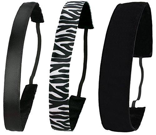 Ivybands Anti-Slip Headband-Black or White Edition Black Zebra Black White  Classic Black 69068093707
