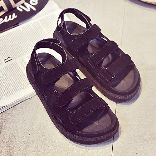 Lgk & fa estate sandali sandali da donna, da donna, suola scarpe suola tacco Frosted black