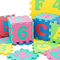 36-piece Play Puzzle Rubber Mat [Alphabet and Numbers]