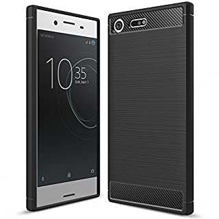 NALIA Silicone Case for Sony Xperia XZ Premium, Ultra-Thin Protective Phone Cover Rubber-Case Gel Soft Skin, Shockproof Slim Back Bumper Protector Back-Case Shell for Sony Xperia-XZ Premium - Black