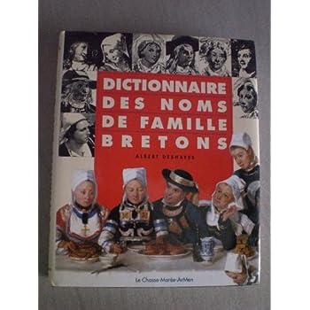 DICTIONNAIRE DES NOMS DE FAMILLE BRETONS PLUS DE 8 000 NOMS BRETONS sont étudiés .