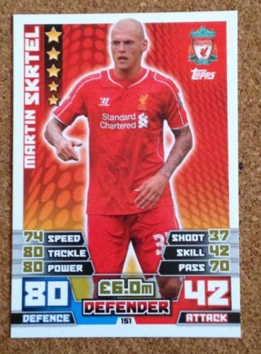 Price comparison product image MATCH ATTAX 2014 2015 football card Liverpool MARTIN SKRTEL Defender