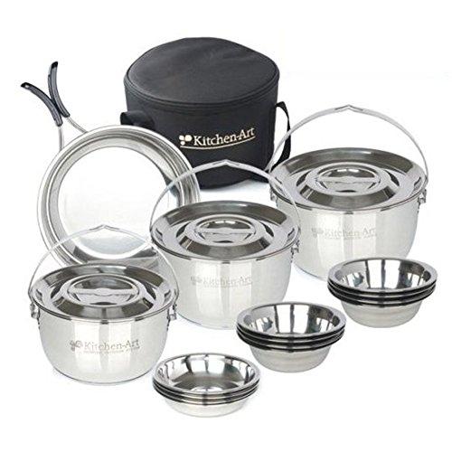 Cuisine Art Portable casseroles et poêles 20P Camping Cuisine Portable Sac Kit de cuisson