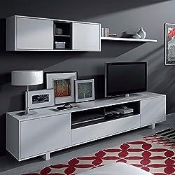 Mueble de Comedor Moderno, Color Blanco Brillo - Medidas: 200 cm x 41 cm (0772)