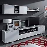 Mobelcenter - Mueble de Comedor Moderno, Color Blanco Brillo - Medidas: 200 cm x 41 cm (0772)