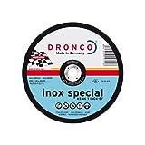 Dronco AS46TINOX-115PACKPLUS25 Discos de Corte Metal, As 46 T Inox Special Express, 115 Mm Diámetro, 1.6 Mm Espesor, 22.23 Mm Diámetro Eje, 13,280 RPM, Set de 25