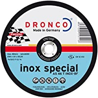 Dronco AS46TINOX-125 Discos de Corte Metal, As 46 T Inox Special Express, 125 Mm Diámetro, 1.6 Mm Espesor, 22.23 Mm Diámetro Eje, 12,200 RPM, Set de 25