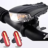 LED Fahrradbeleuchtung Set, FisherMo Nach-Den StVZO Standard Fahrradlicht Rücklicht, USB Wiederaufladbare IPX6 Wasserdicht Außen Fahrradlampe