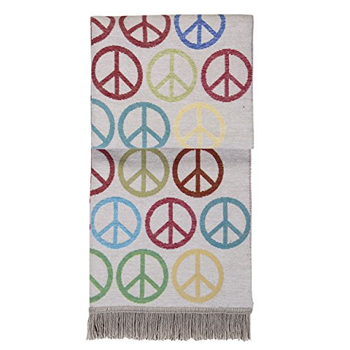 (Pad - Decke - Kuscheldecke - Peace - Multi - Bunt - 150 x 200 cm)