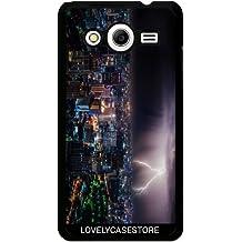 Funda para Samsung Galaxy Core 2 SM-G355 - Eclair Tonerre Ciudad Noche Urbano Lightning Light Asia