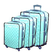 Hibate Clear Plastic Luggage Cover Suitcase Protector Covers - 32 inch
