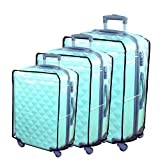 Hibate Clear Plastic Luggage Cover Suitcase Protector Covers 20'22'24'26'28'30'32'