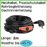 2m Heizkabel Frostschutz Dachrinnenheizung