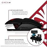OMEN by HP Reactor Gaming Maus (6 optomechanische Tasten, 16.000 DPI eSport Sensor, RGB LED Beleuchtung, individuell programmierbar, anpassbare Handflächenauflage) schwarz