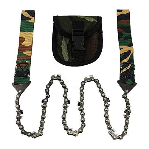 WYX Taschen-Kettensäge-Faltende Ketten-Hand SAH schnelles Holz u. Baum-Ausschnitt-Notüberlebensausrüstung im Freien am besten für kampierendes Wandern wandern Jagd
