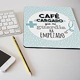 """Alfombrilla para ratón regalo original profesión médico """"Café cargado que mi guardia ha empezado"""""""