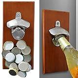DKEyinx Magnetischer Flaschenöffner zur Wandmontage, Adsorbiert auf der Oberfläche des Kühlschranks, 30 cm x 12 cm x 5 cm, für Bars, Restaurants, Küche, Zuhause Magnetisch Typ