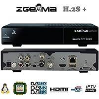 Zgemma H.2S Plus Combo con tuner 1xDVB-S2 e 1xDVB-S2X/T2, IPTV, Enigma2, supporta Feed Multistream