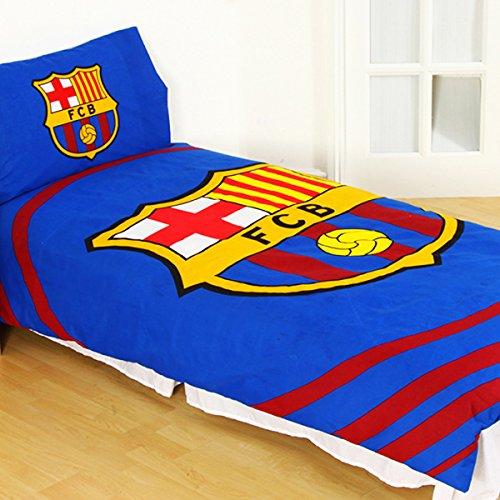 Offizielles FC Barcelona 'Pulse' Single Bettbezug und Kissenbezug Set (Barcelona-geschenk-set)