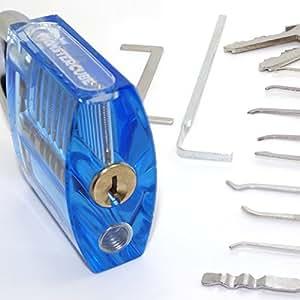 monstercube diy jouet 11 pi ces kits de crochetage outils cadenas transparent pour. Black Bedroom Furniture Sets. Home Design Ideas
