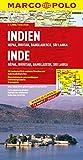 MARCO POLO Kontinentalkarte Indien, Nepal, Bhutan, Bangladesch, Sri Lanka 1:2,5 Mio - (MARCO POLO Kontinental /Länderkarten) - Polo Marco