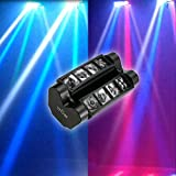 [4 Mode Control]Tomshine DMX512 Stage Light,RGBW Rotatable Moving Head light Mini LED Spider Stage Beam Light With 10/14CH Channels for Bar Disco DJ Show Club