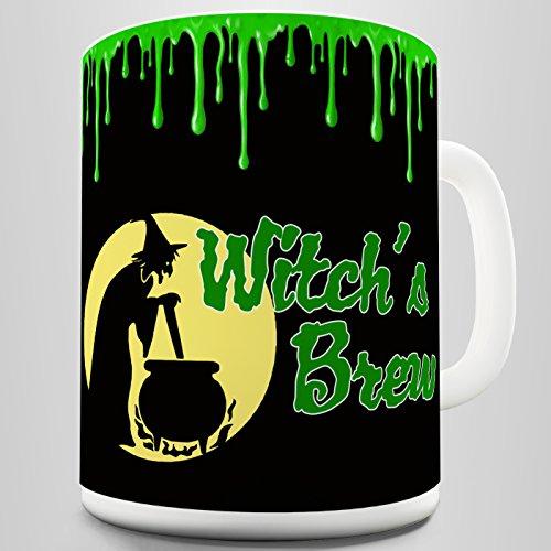 TWISTED ENVY Keramiktasse Halloween Hexen Brew 15 OZ weiß (Lustige Witze Halloween-zitate)